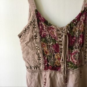 Embroidered Hippie Mini Dress